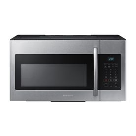 Samsung 1.6-cu ft Over-The-Range Microwave (Stainless Steel) (Common: 30-in; Actual: 29.87-in) $149 Black Friday