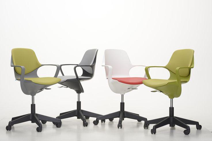 Pogo, una silla giratoria liviana, atractiva y dinámica.
