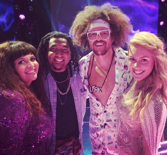 Rochelle, Jason, Redfoo and Reigan Derry. The Xfactor Australia