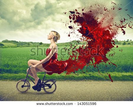 Woman In Red Dress Stock Photos, Images, & Pictures   Shutterstock