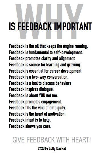 Why is feedback Important by @Lauren Davison Davison Jane Daskal