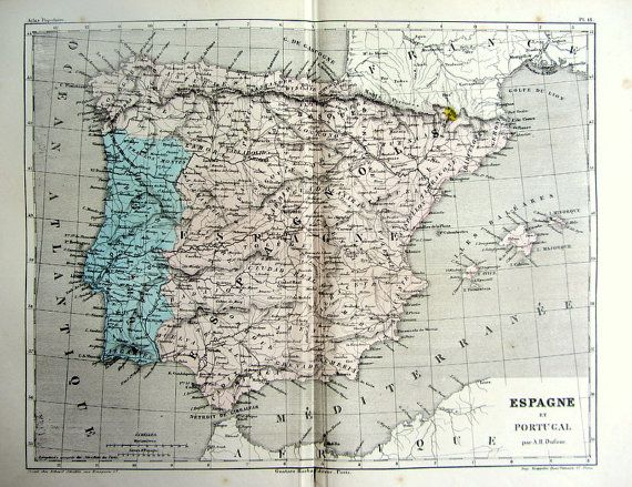 Best Map Images On Pinterest Antique Maps Spain And City Maps - Portugal map to print