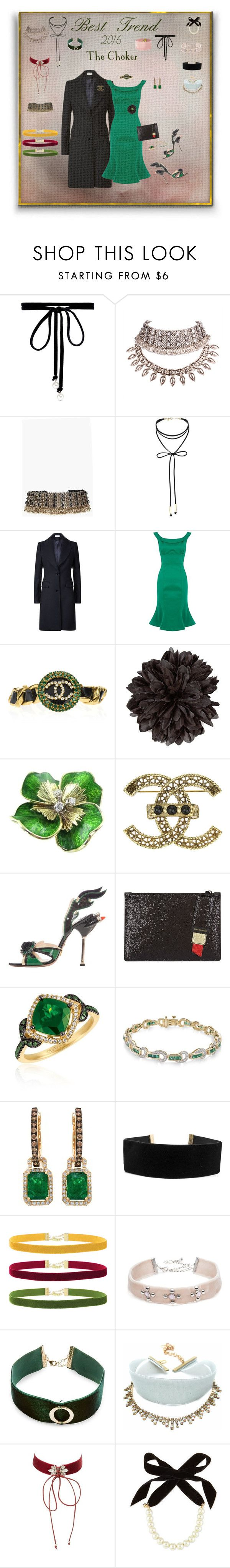"""Choker Best Trend of 2016"" by deborah-518 ❤ liked on Polyvore featuring Joomi Lim, WithChic, Boohoo, Miss Selfridge, Reiss, Chanel, Gucci, Prada, Lulu Guinness and LE VIAN"