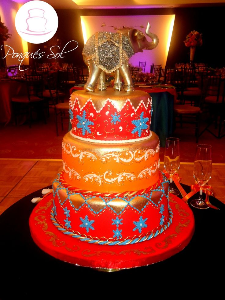 Ponqué / Torta 15 años - Sweet sixteen Cake Hindu Theme