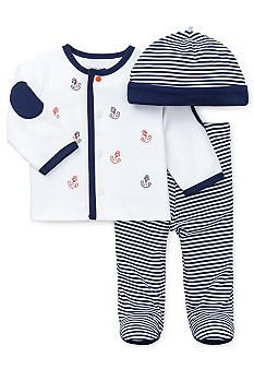 Little Me Smooth Sailing 3-Piece Take Me Home Set - Coming home outfit