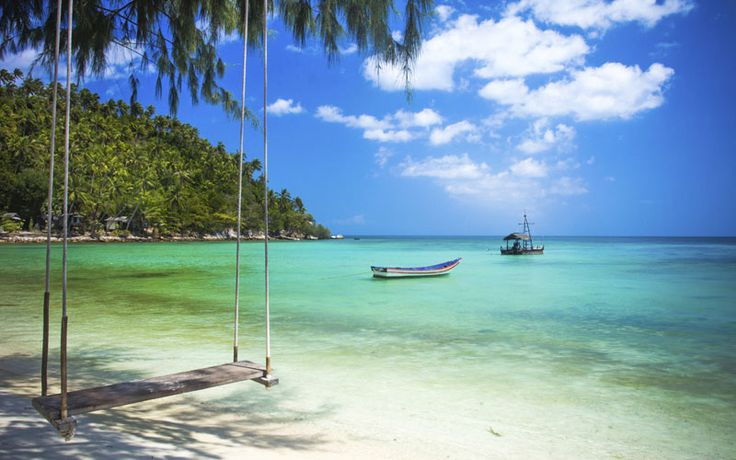 Schommelen op Mae Haad Beach, Koh Tao #Kohtao #rondreisthailand #maehaadbeach #originalasia