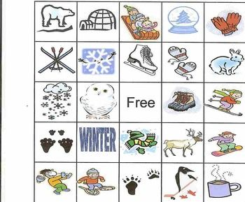 Fun winter bingo game - no holiday stuff. It's great for January!