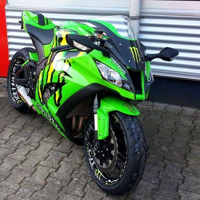 Monster Kawasaki Zx 10r Sportbikes Kawasaki Bikes Motorcycle