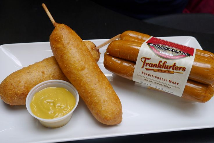 Vegan Corn Dogs by Field Roast (could be used with any faux frankfurter) #vegetarian #cooking #food