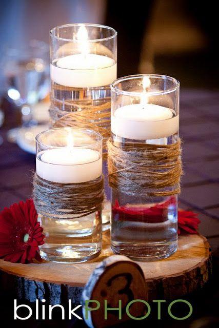 Floating candles garland wedding lewiston weddings