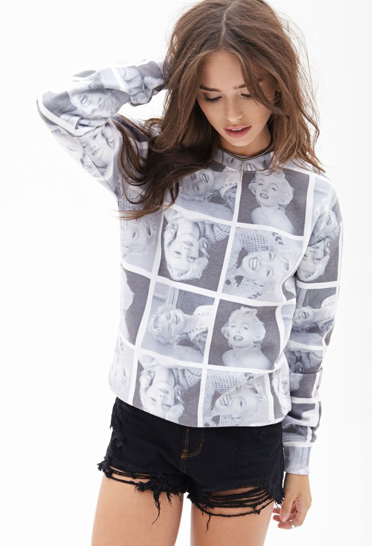 Marilyn Monroe Sweatshirt...... Nothing like wearing a pretty girls face to make you feel pretty :)