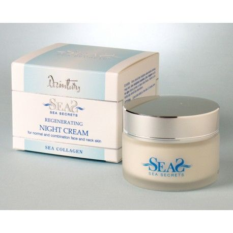 Dzintars Sea Secrets Regenerating night cream for normal and combination face and neck skin (with sea collagen)