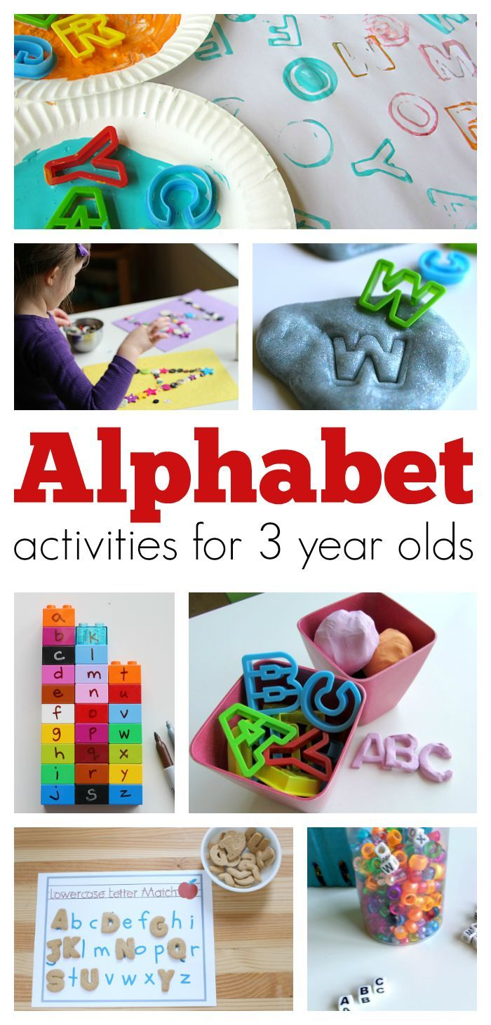 Fantastic alphabet activities for 3 year olds to learn and have fun with letters. Play with letters and learn to recognize letters through play.