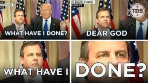 Funniest Memes Reacting to Chris Christie's Awkward Super Tuesday Face: Chris Christie: What Have I Done?