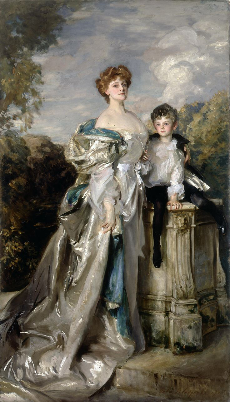 """John Singer Sargent, """"Lady Warwick and Her Son,"""" 1905. Worcester Art Museum."""