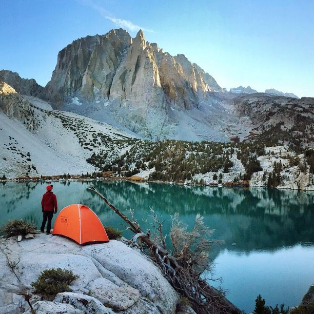 Big Pine, California — by Bernini. A perfect camp spot in the Eastern Sierras. Second Lake is one of the seven lakes located along Big Pine Creek. It is...