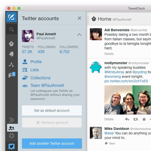 TweetDeck for Macs update now integrates Teams, group DMs, Dataminr support and more
