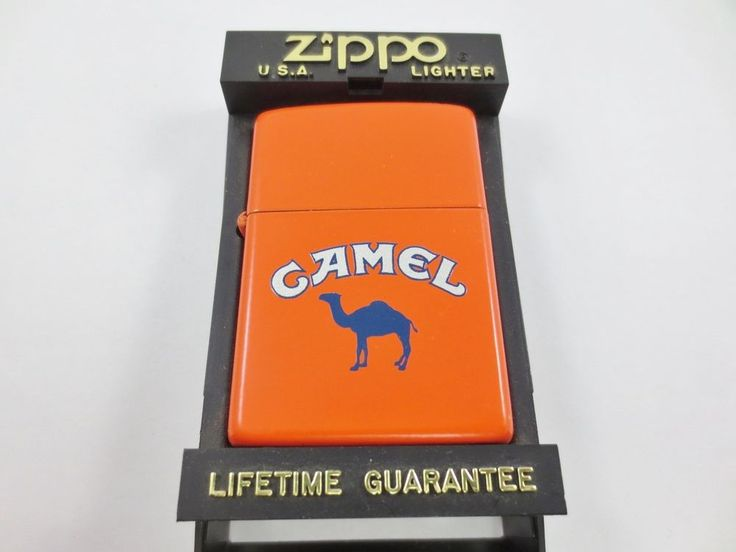 ZIPPO USA CAMEL Cigarette Lighter New Old Stock w Case ORANGE J VIII