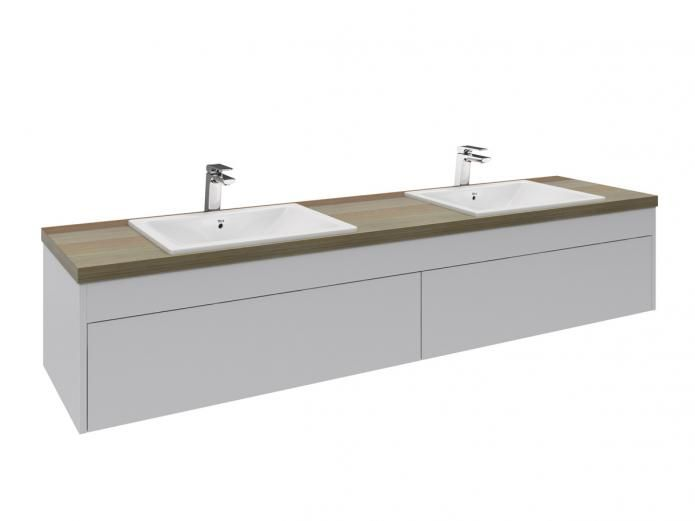 Rifco Acqua 1800 Double Wall Hung Vanity Unit