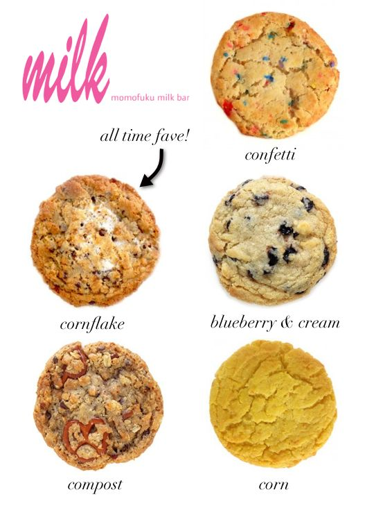 "Cookies from Milk Bar. I've tried them all but their famous ""Corn Cookie"" and ""Compost Cookie"" are must haves!"
