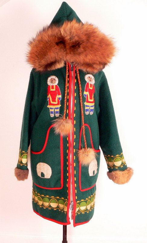 on hold Native Inuit WOOL ANORAK PARKA Fur by HousewifeVintage
