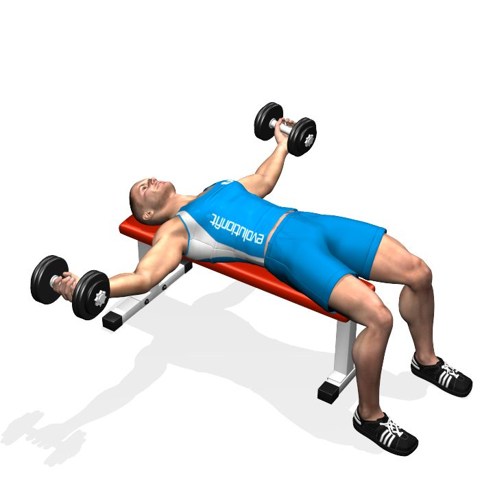 list of dumbbell exercises by muscle group dumbbell - 700×700