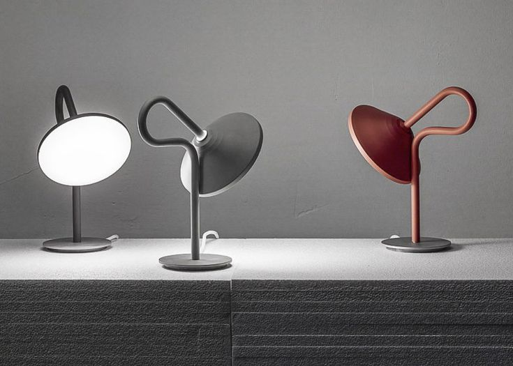 Round Lamp with a looping stem by Bao-Nghi Droste | design | Dezeen