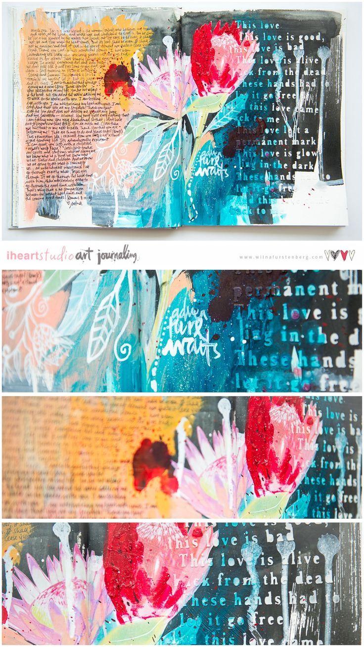 Last Adventure Art Journal Page | Wilna Furstenberg Blog