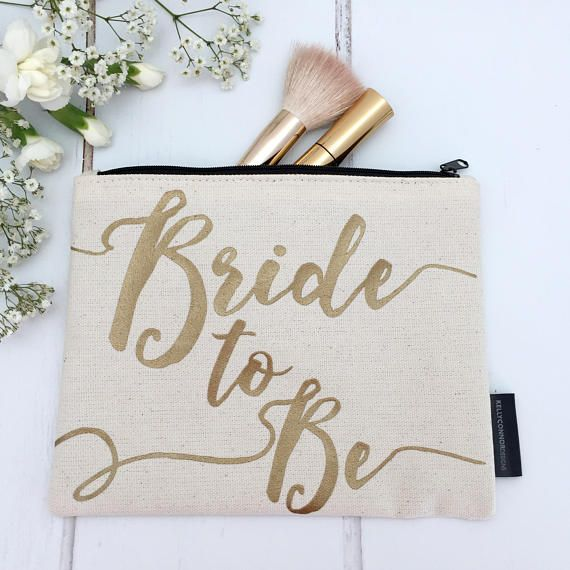 Perfect for pairing with our Bride To Be tote, this Bride to Be make-up bag will make sure your wedding day essentials are close at hand.