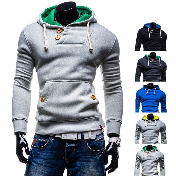 2016 Double Button Hoodie A good hoodie should be part of every man's wardrobe especially during the spring and autumn period. Hoodies are very useful not only because they are easy to combine with ot