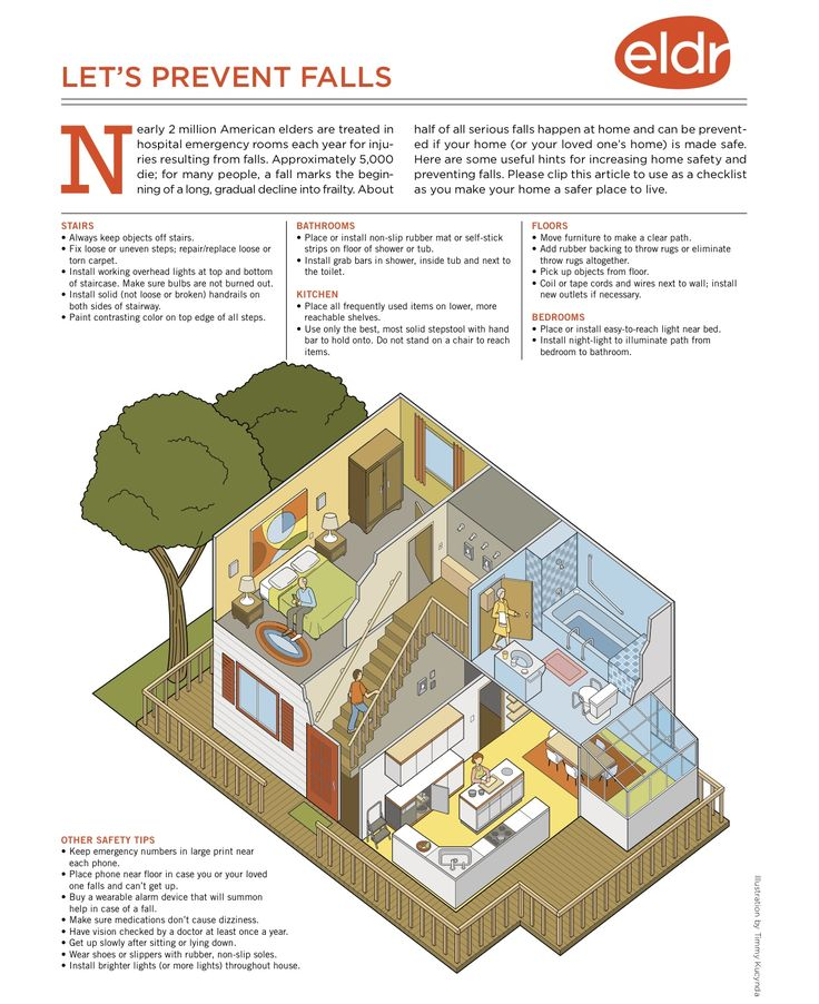Home modifications can prevent falls and injuries