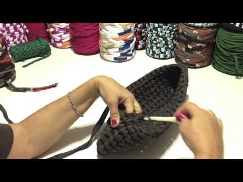 Video - Tutorial: Bolso tipo cartera de trapillo.