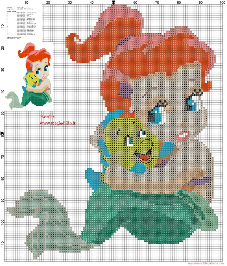 Cross Stitch Patterns | ... Flanders cross stitch pattern 100x118 17 colors...pattern for babies