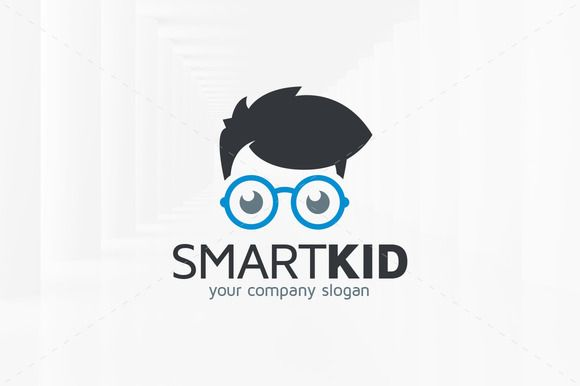 Smart Kid Logo Template by LiveAtTheBBQ on Creative Market