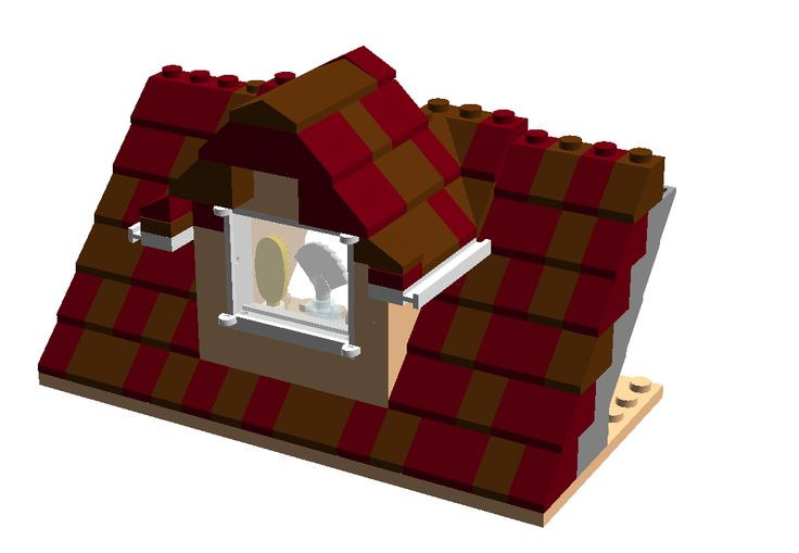 The Brick Worm: Roofing a House, 2-roofing techniques to improve lego homes
