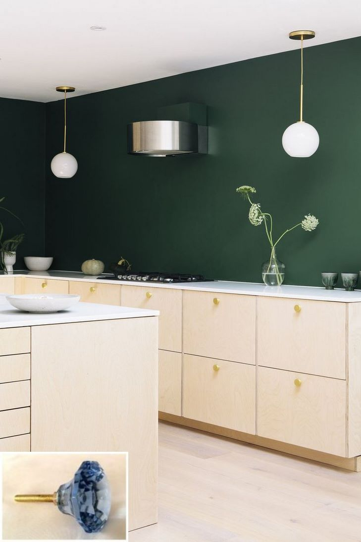 Dark Light Oak Maple Cherry Cabinetry And Solid Wood Kitchen Cabinets Woodbridge Nj Check The Plywood Kitchen Interior Design Kitchen Green Kitchen Walls