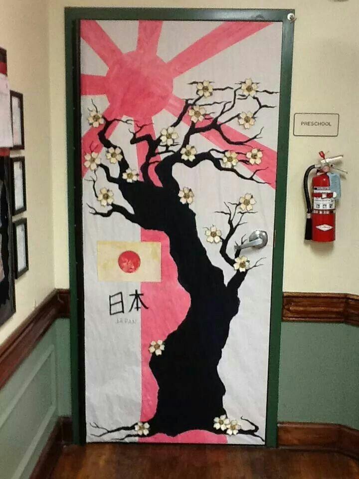 Japan Theme. We Won The Best Door!!!