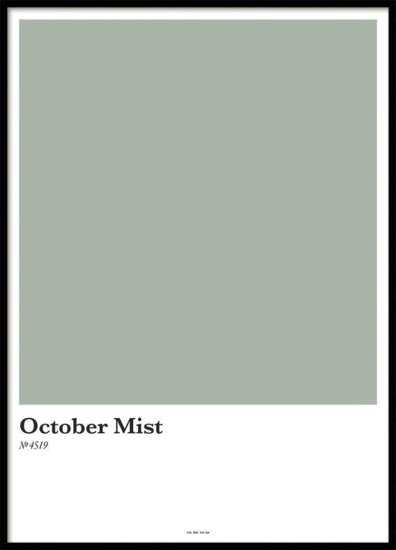 En affisch med färgkarta i grön nyans. Fina färgkartor och posters till ditt vardagsrum | Archiveseven.com