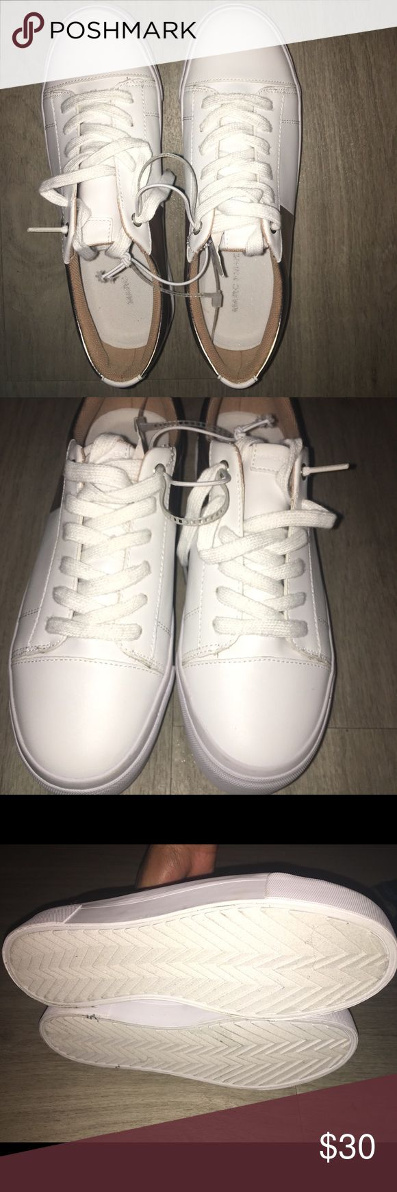 Marc Fisher sneakers Color: white and gold Size:7 Brand new without box Marc Fisher Shoes Sneakers