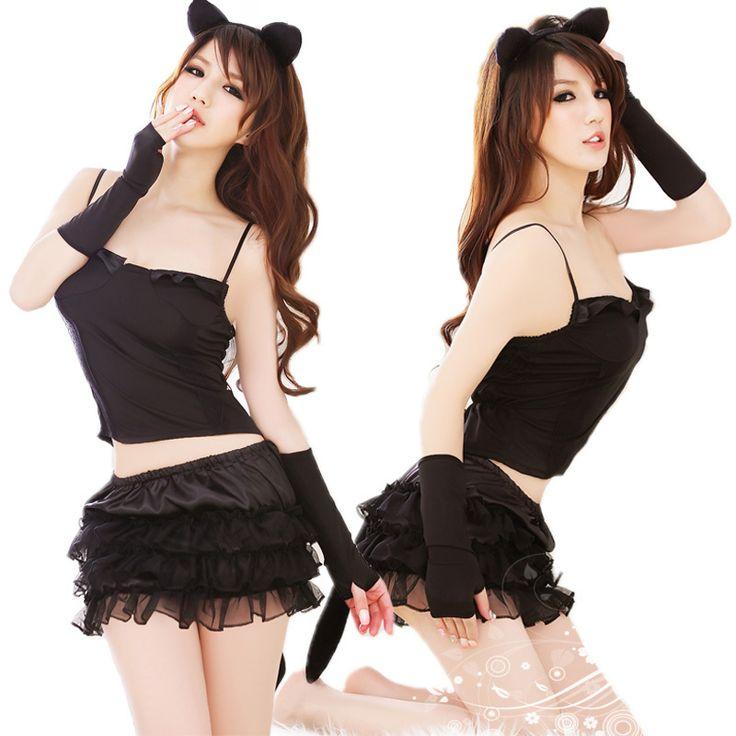 Кошка девушка сексуальное женское белье заманчивость формы орекьетте глубоким вырезом женщина кошка кошка хвосты девочек косплей платье мини-юбки 80668