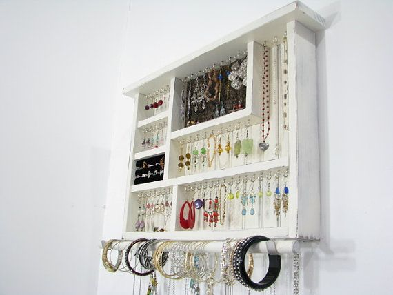 Jewelry Box with ring storage by BlackForestCottage on Etsy