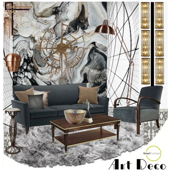 """Art Deco Set - Smart Furniture"" by szaboesz on Polyvore"