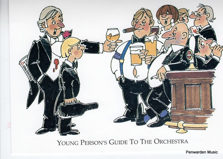 Joan Butler Classics Greeting Card - Young Person's Guide to the Orchestra