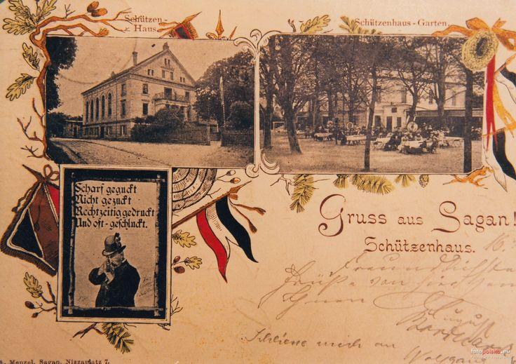 Dom Strzelecki (Schützenhaus), Żagań - 1910 rok, stare zdjęcia