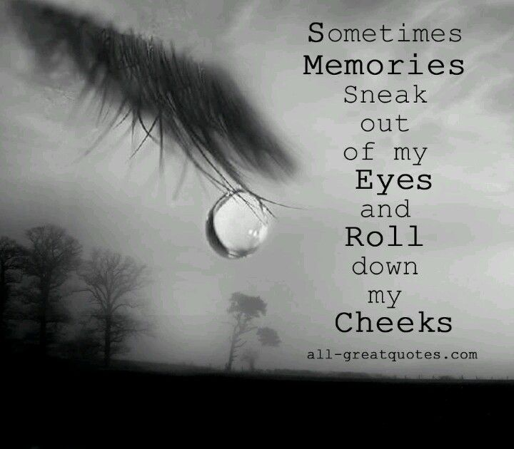 Except the tears are real....the memories are just a recollections of the grandest facade I have ever been a part of...EVER.