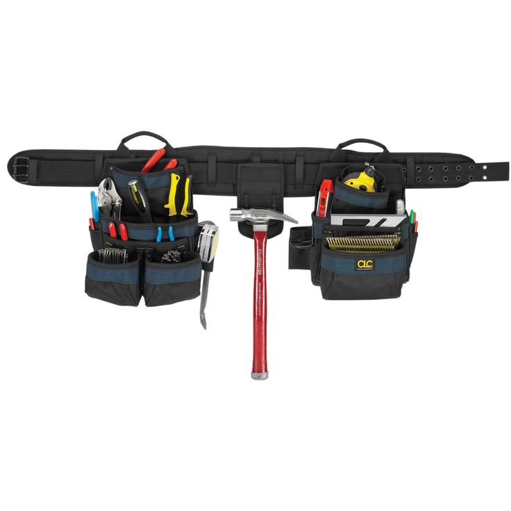 CLC Work Gear 2605 4 Piece 20 Pocket Carpenters Tool Belt Combo