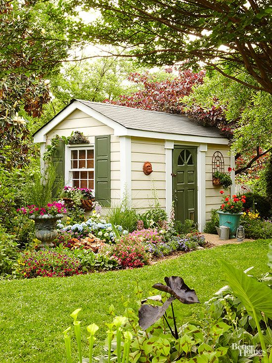 2404 best images about garden sheds on pinterest a shed for Backyard cottage shed