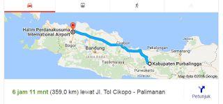 Rute Purbalingga - Bandara Halim Perdanakusuma