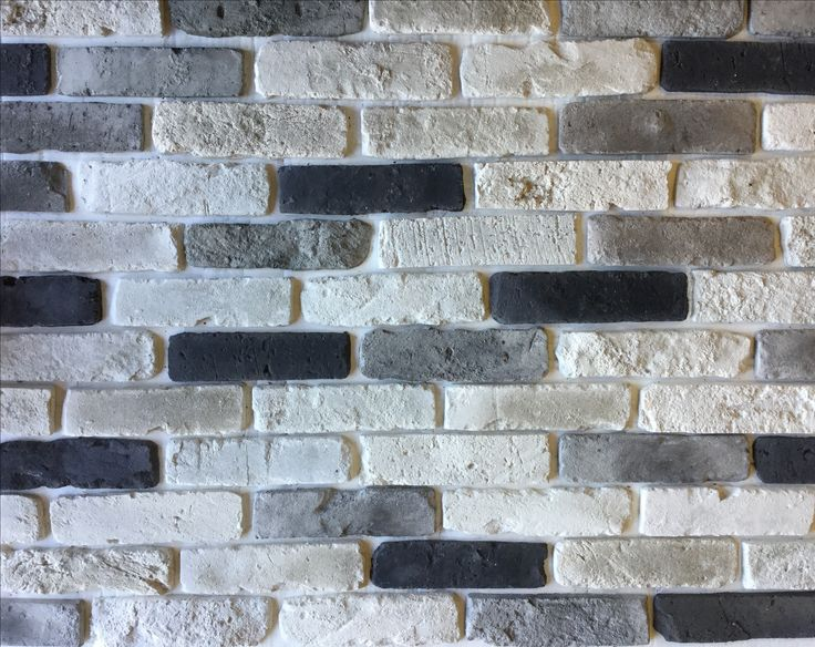 Arctic Blend brick slips in a one square metre profile picture