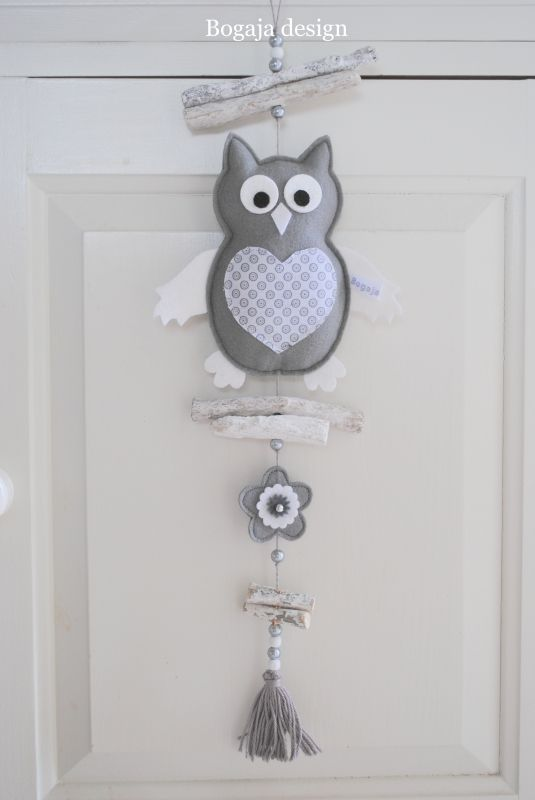 hanger uil grijs | Bogaja design